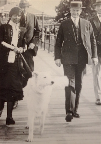 President Coolidge, right, with Prudence Prim. (Photo courtesy Justin Shover.)