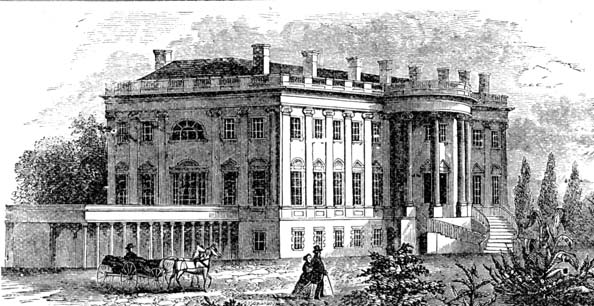 Depiction of early White House. Photo via Wikipedia